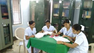 Dibyashree with fellow students at nursing school.